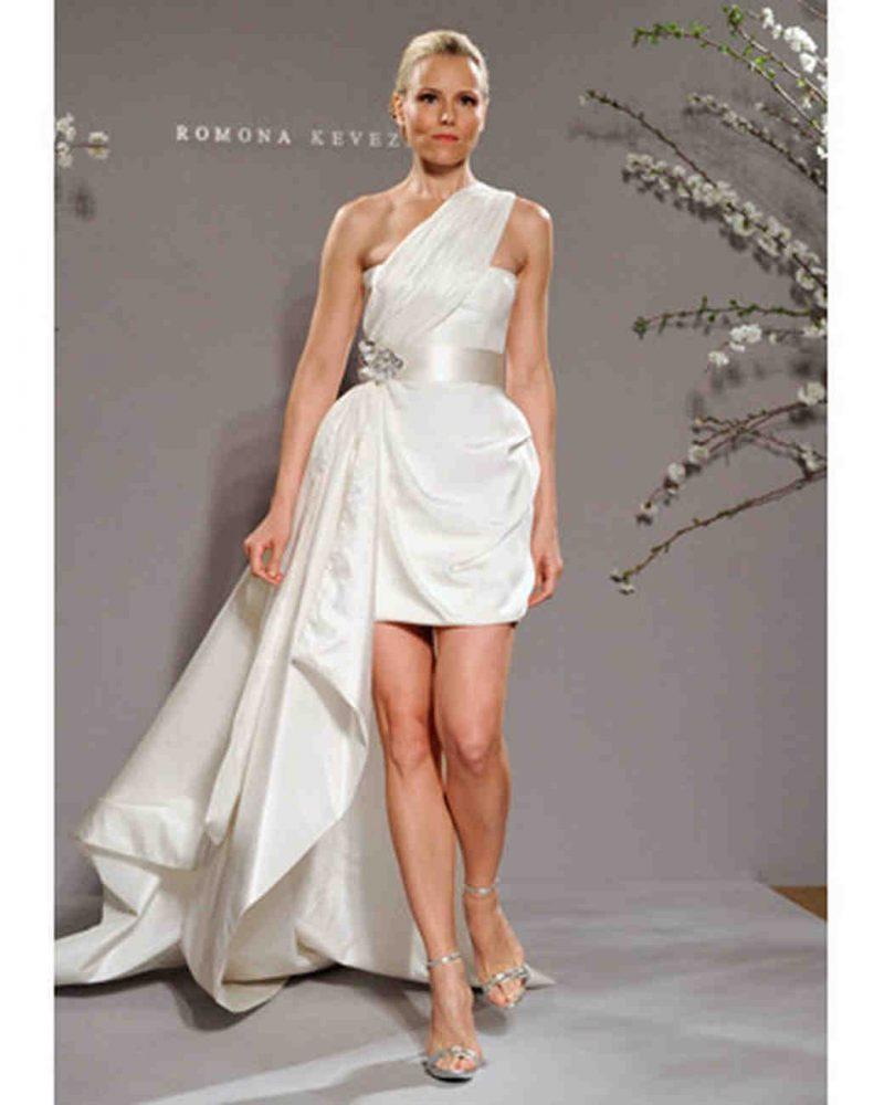 curto romona 800x1000 - Vestidos de Noiva Curtos