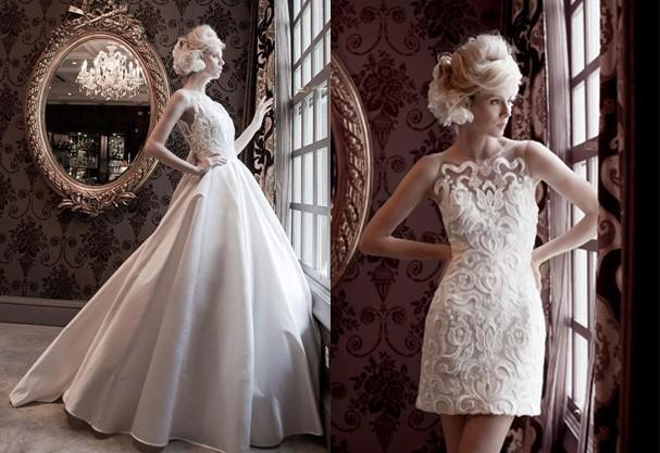 vestidos 2 em 1 capa - Uma noiva e 2 vestidos - Vestidos transformáveis 2 em 1