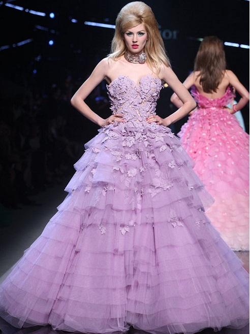 Christian Dior - Vestidos de Noiva Coloridos - Inspirações