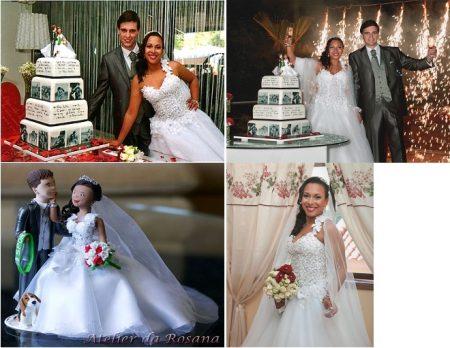 Noivos Rosana1 1 450x348 - Topos de bolo