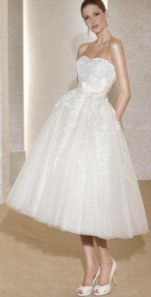Vestido curto Fara Sposa 1 - Vestidos de Noiva Curtos