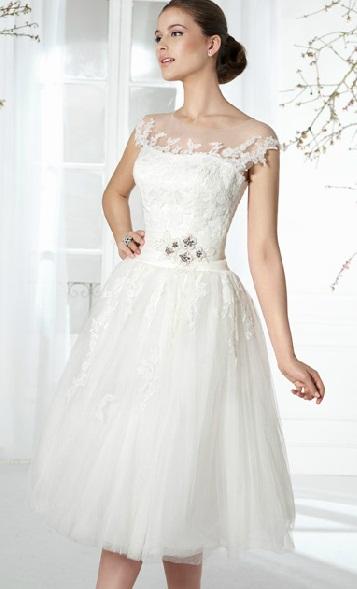 Vestido curto Fara Sposa 4 - Vestidos de Noiva Curtos