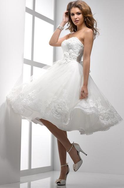 Vestido curto sotteroandmidgley - Vestidos de Noiva Curtos