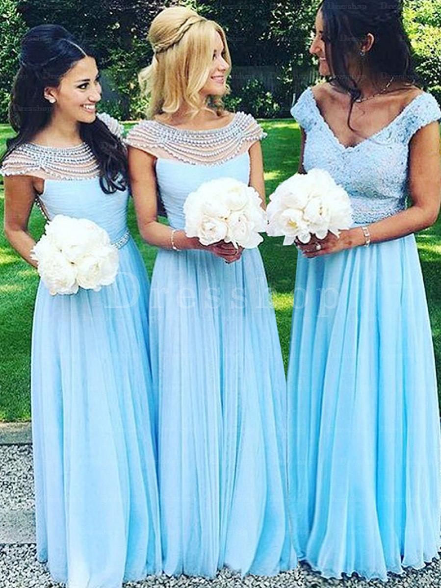 azul clar 1 - Damas de Honor - Inspirações