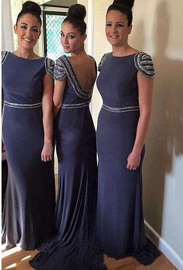 azul escuro 1 - Damas de Honor - Inspirações