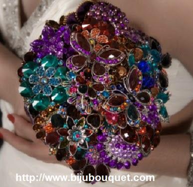 bijou bouquet 5 - Ramos artísticos com Jóias