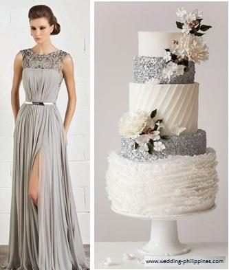 bolo1 1 - Bolo de casamento inspirado no vestido da noiva