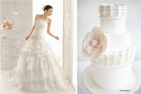 bolo11 1 450x302 640x480 - Bolo de casamento inspirado no vestido da noiva