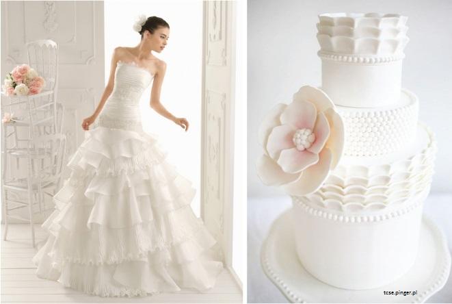 bolo11 1 - Bolo de casamento inspirado no vestido da noiva