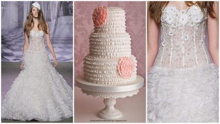 bolo12 1 450x253 640x480 - Bolo de casamento inspirado no vestido da noiva
