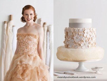 bolo13 450x338 640x480 - Bolo de casamento inspirado no vestido da noiva