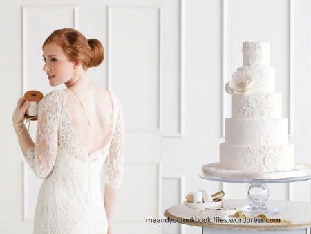 bolo14 450x338 640x480 - Bolo de casamento inspirado no vestido da noiva