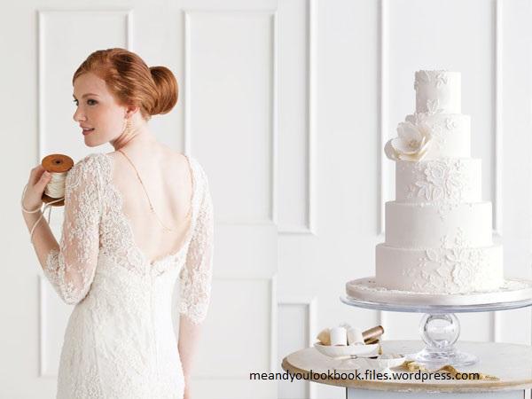 bolo14 - Bolo de casamento inspirado no vestido da noiva