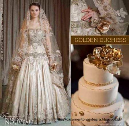bolo16 450x437 640x480 - Bolo de casamento inspirado no vestido da noiva