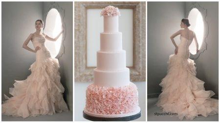 bolo17 450x253 640x480 - Bolo de casamento inspirado no vestido da noiva