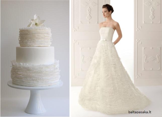 bolo18 - Bolo de casamento inspirado no vestido da noiva