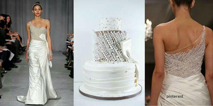 bolo19 - Bolo de casamento inspirado no vestido da noiva
