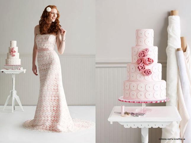bolo2 1 - Bolo de casamento inspirado no vestido da noiva