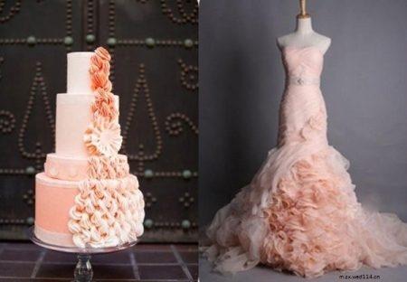 bolo5 1 450x312 640x480 - Bolo de casamento inspirado no vestido da noiva