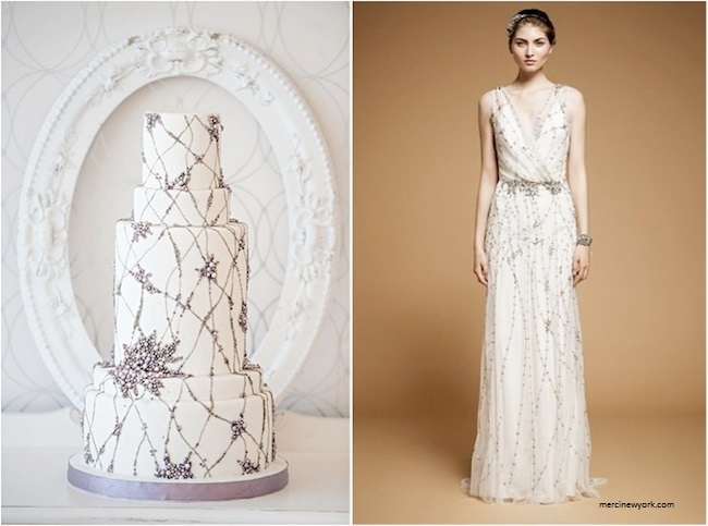bolo8 1 - Bolo de casamento inspirado no vestido da noiva