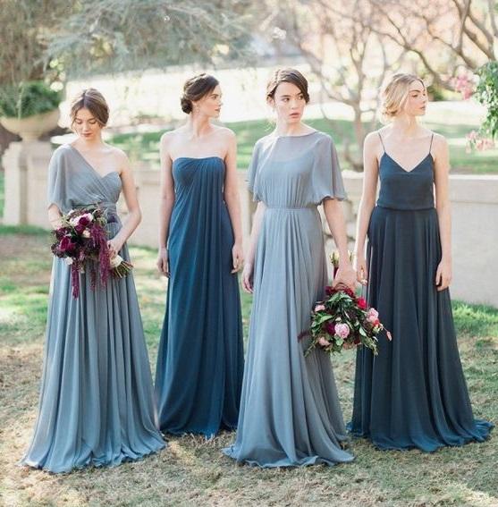 damas pinteres azul1 1 - Damas de Honor - Inspirações