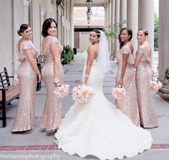 damas pinteres dourado - Damas de Honor - Inspirações