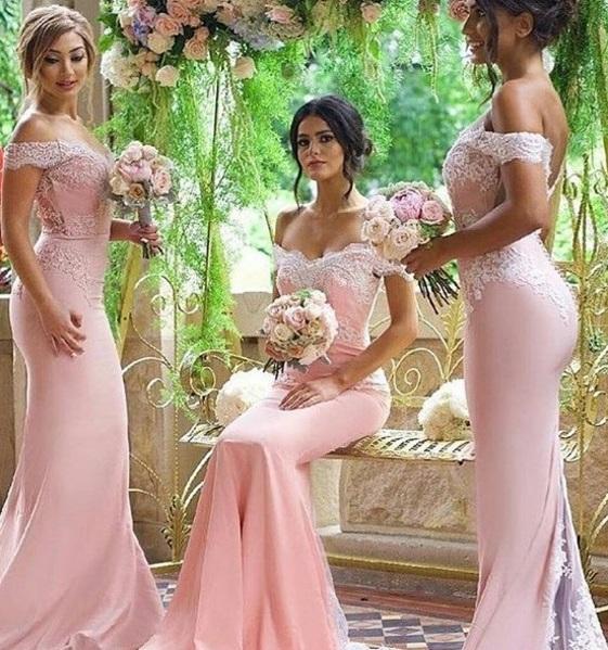 damas pinteres rosa3 - Damas de Honor - Inspirações