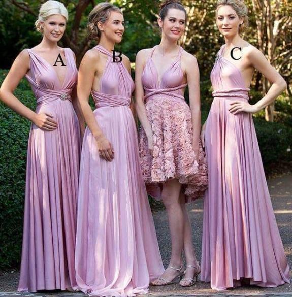 damas pinteres rosa4 - Damas de Honor - Inspirações