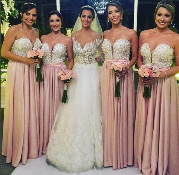 damas pinteres rosa5 - Damas de Honor - Inspirações