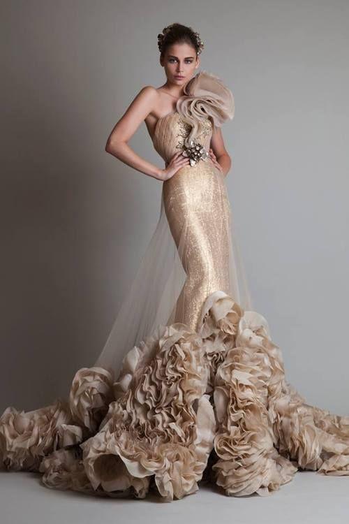 krikor jabotian - Vestidos de Noiva Coloridos - Inspirações