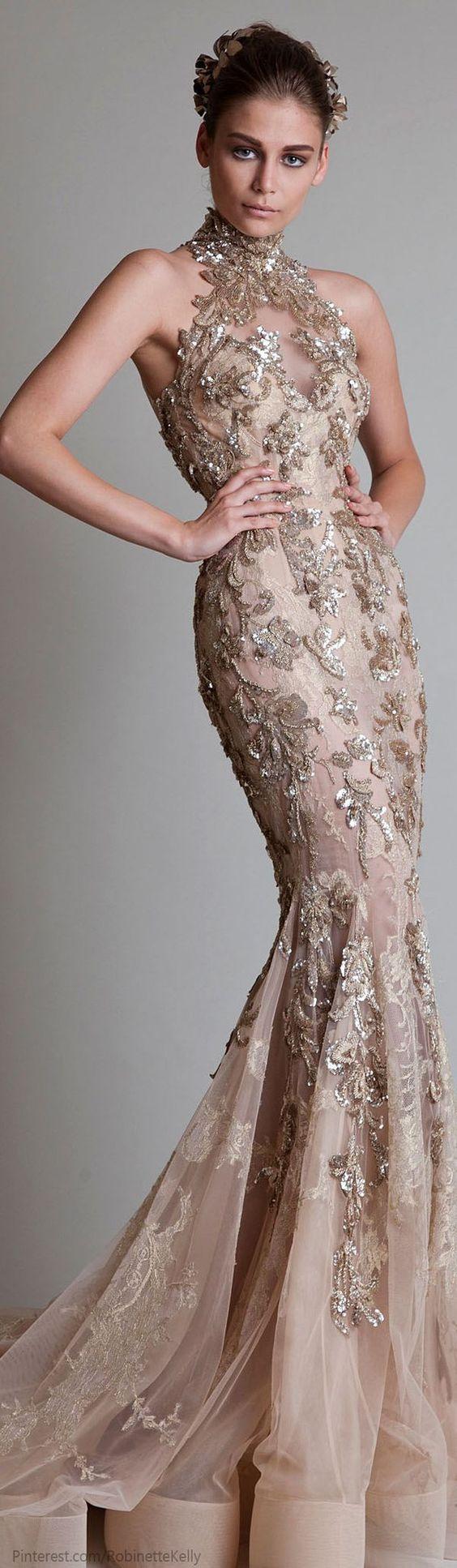 krikor jabotian1 - Vestidos de Noiva Coloridos - Inspirações