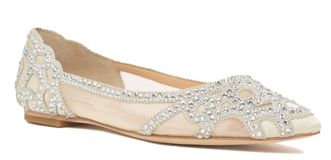 Badgley Mishka1 - Calçado baixo e raso para noivas