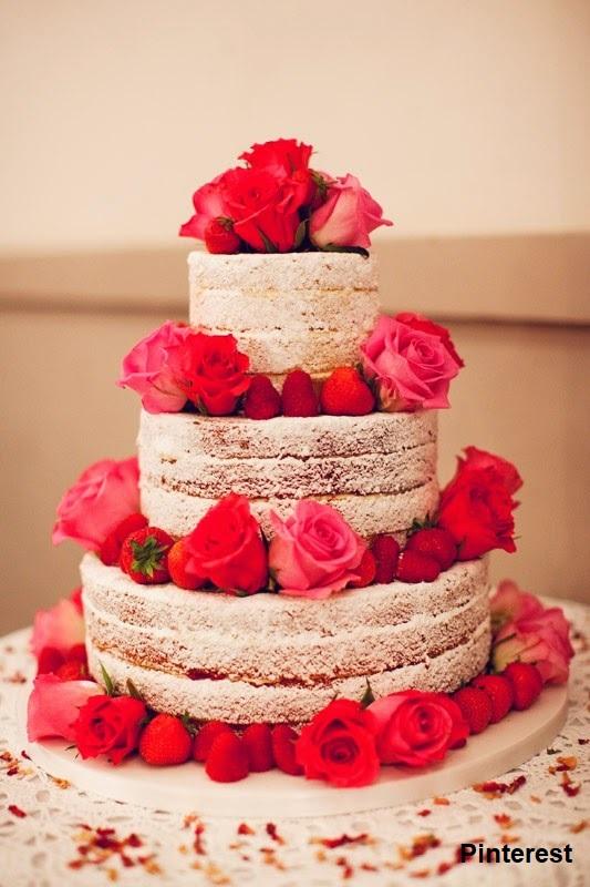 Naked Cake - Bolo de Casamento Naked Cake - Inspirações