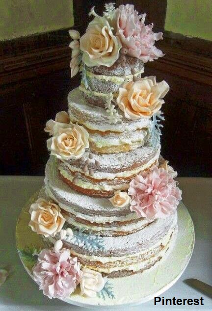 Naked Cake1 - Bolo de Casamento Naked Cake - Inspirações