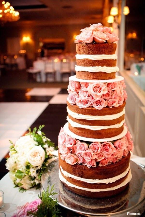 Naked Cake17 - Bolo de Casamento Naked Cake - Inspirações