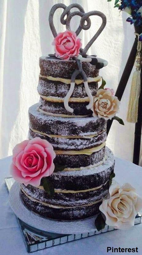 Naked Cake3 - Bolo de Casamento Naked Cake - Inspirações