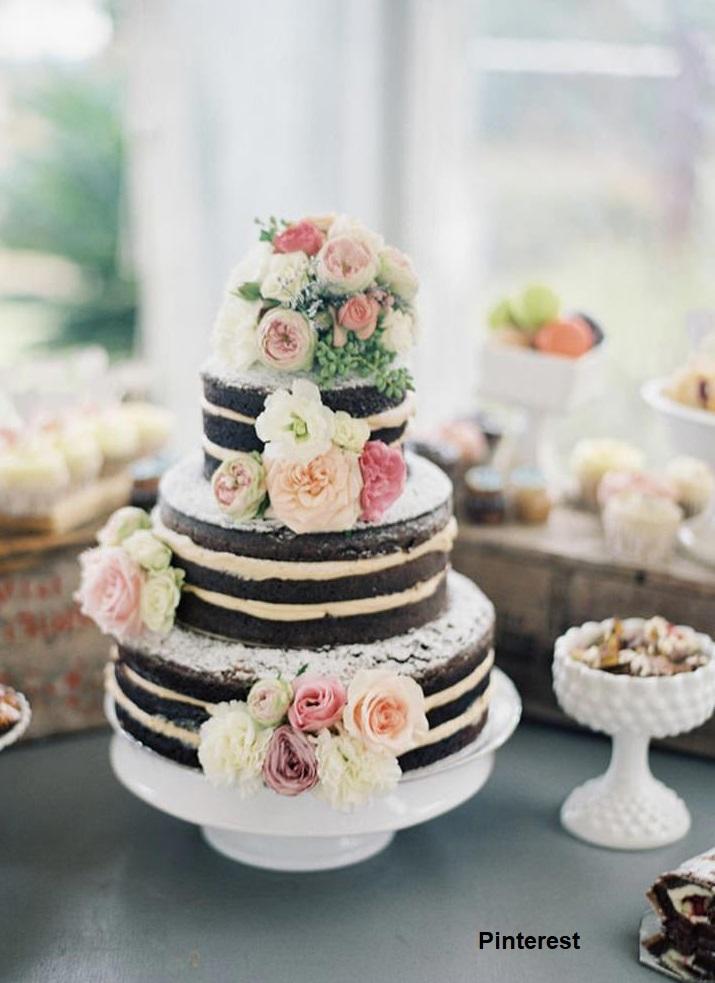Naked Cake4 - Bolo de Casamento Naked Cake - Inspirações