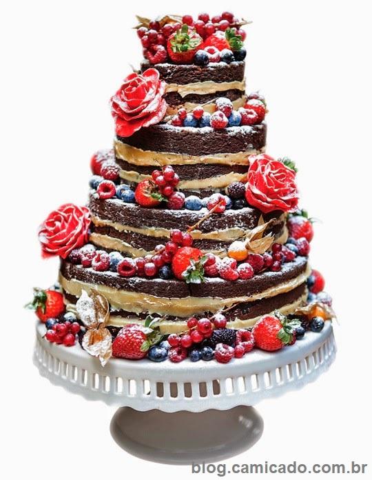 Naked Cake6 - Bolo de Casamento Naked Cake - Inspirações