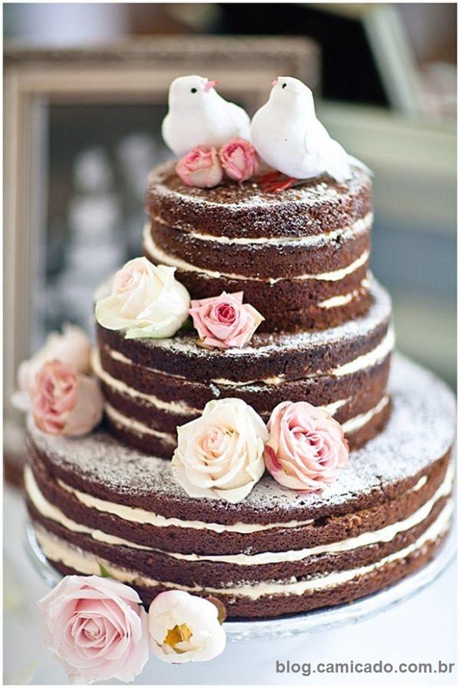 Naked Cake7 - Bolo de Casamento Naked Cake - Inspirações