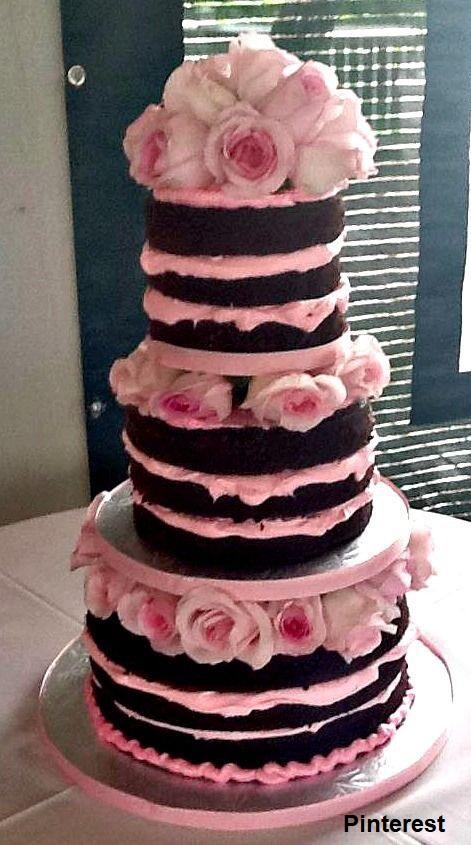 Naked Cake8 - Bolo de Casamento Naked Cake - Inspirações