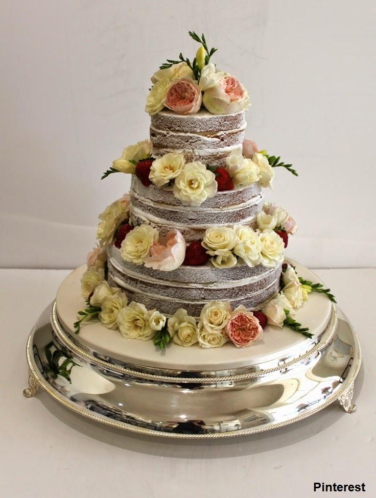Naked Cake9 - Bolo de Casamento Naked Cake - Inspirações
