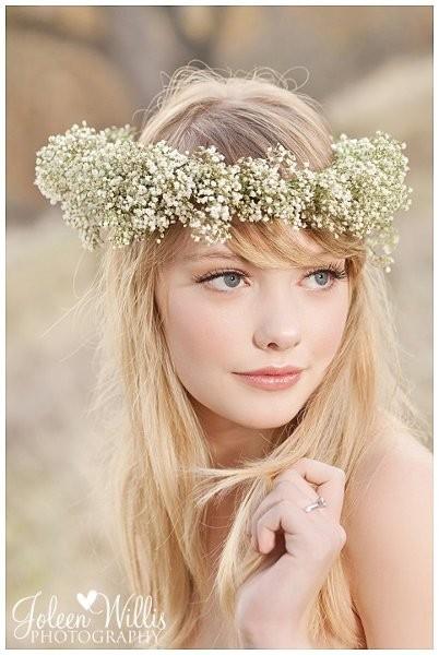 Penteado com grinalda de flores1 - Penteados com grinaldas de flores