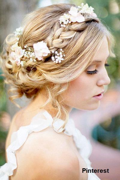 Penteado com grinalda de flores12 - Penteados com grinaldas de flores