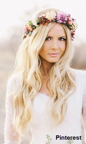 Penteado com grinalda de flores13 - Penteados com grinaldas de flores
