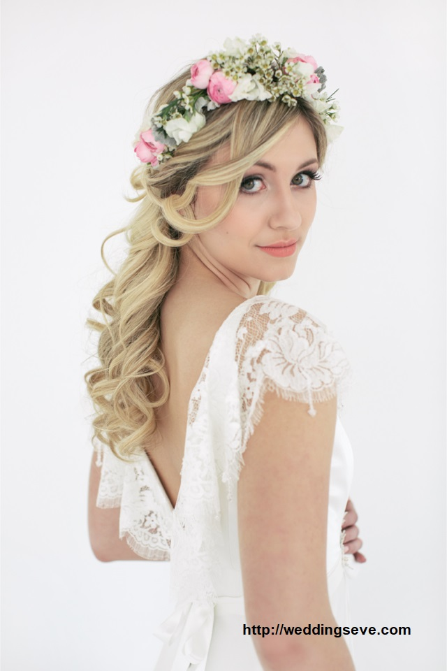 Penteado com grinalda de flores14 - Penteados com grinaldas de flores