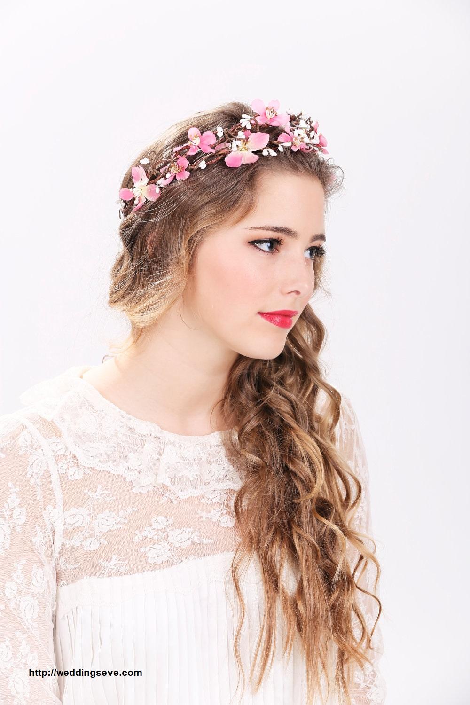 Penteado com grinalda de flores15 - Penteados com grinaldas de flores