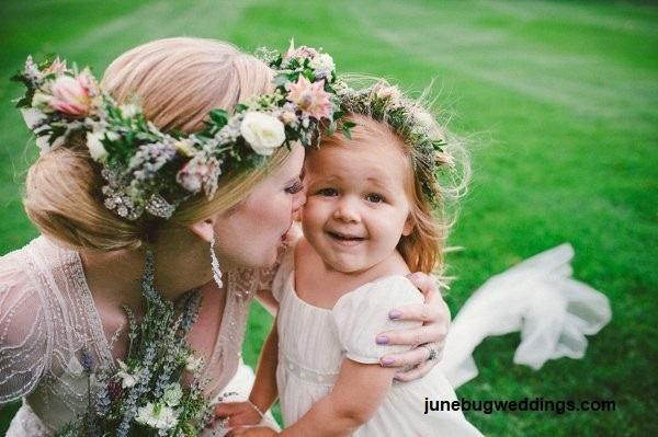 Penteado com grinalda de flores2 - Penteados com grinaldas de flores