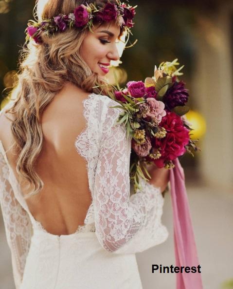 Penteado com grinalda de flores3 - Penteados com grinaldas de flores
