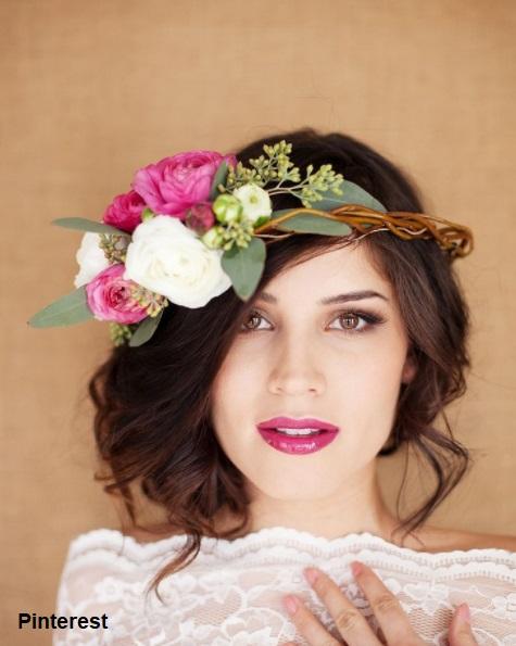 Penteado com grinalda de flores5 - Penteados com grinaldas de flores