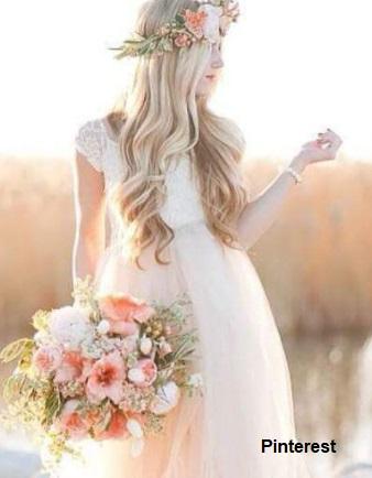 Penteado com grinalda de flores7 - Penteados com grinaldas de flores